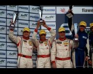 Silverstone Podium</br> Courtesy of John Dagys